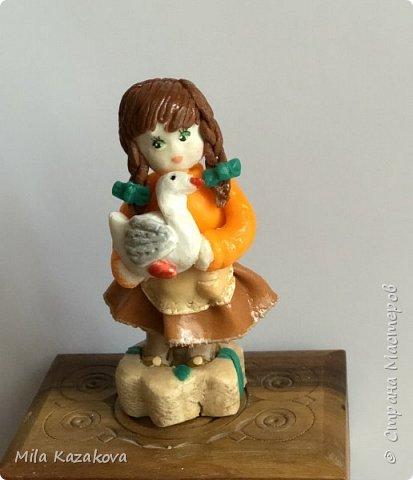 Все куколки сделаны из соленого теста, на каркасе. Лица разрисованы гуашью. Высота фигурок 9 см фото 2