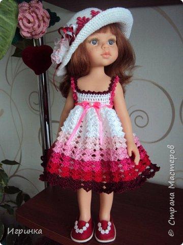 Здравствуйте! Продолжаем играть в куклы. Связался новый наряд для Паолочек. фото 5