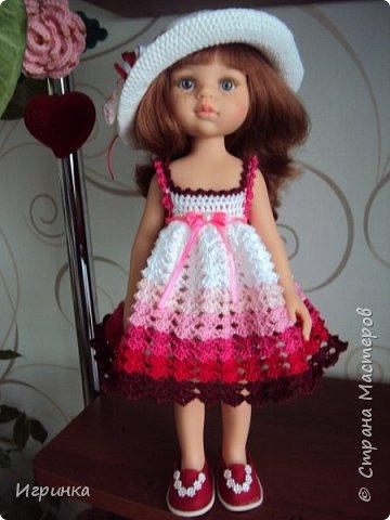 Здравствуйте! Продолжаем играть в куклы. Связался новый наряд для Паолочек. фото 6