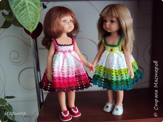 Здравствуйте! Продолжаем играть в куклы. Связался новый наряд для Паолочек. фото 3