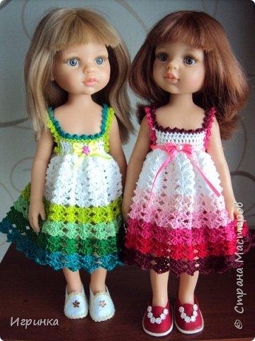 Здравствуйте! Продолжаем играть в куклы. Связался новый наряд для Паолочек. фото 2