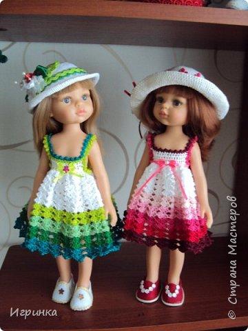 Здравствуйте! Продолжаем играть в куклы. Связался новый наряд для Паолочек. фото 1