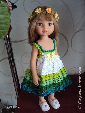 Здравствуйте! Продолжаем играть в куклы. Связался новый наряд для Паолочек. фото 11