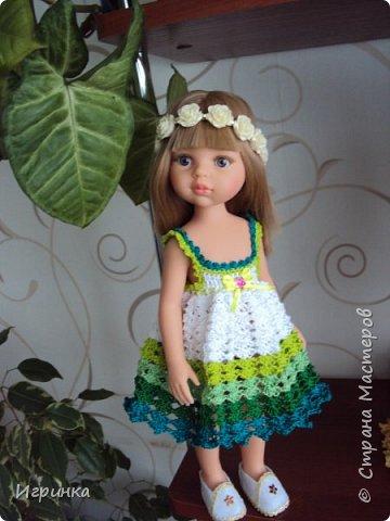 Здравствуйте! Продолжаем играть в куклы. Связался новый наряд для Паолочек. фото 9