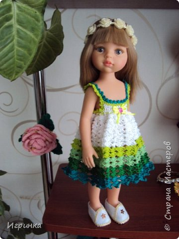 Здравствуйте! Продолжаем играть в куклы. Связался новый наряд для Паолочек. фото 10