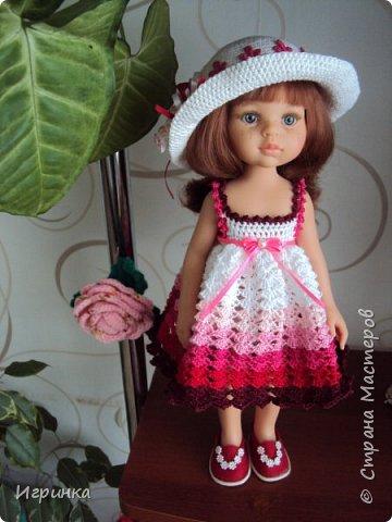 Здравствуйте! Продолжаем играть в куклы. Связался новый наряд для Паолочек. фото 7