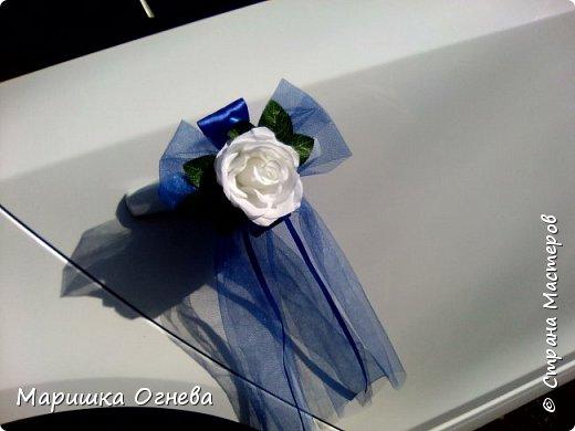 Много)) Свадебных  украшений на авто фото 3