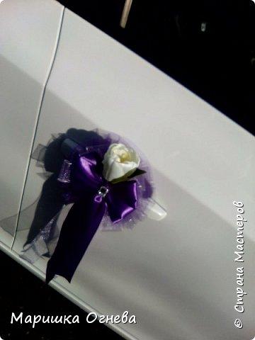 Много)) Свадебных  украшений на авто фото 9