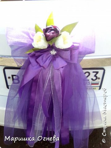 Много)) Свадебных  украшений на авто фото 11