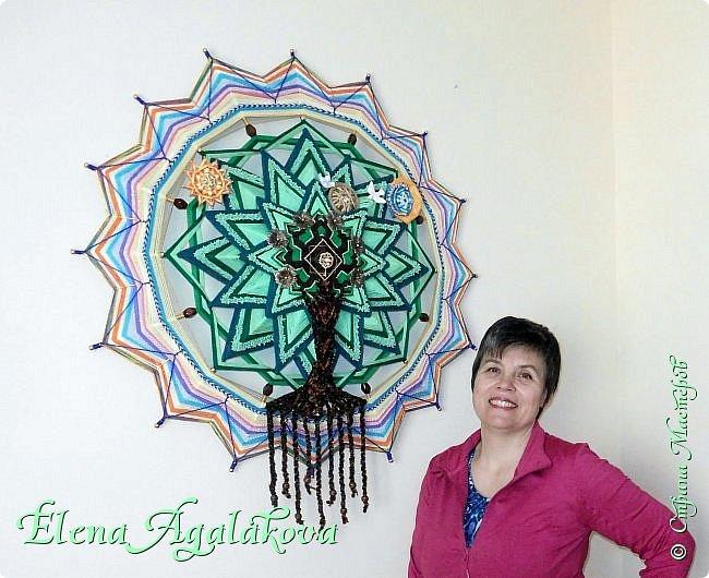 """Моя новая мандала -""""ДРЕВО РОДА"""" - символ процветающей и счастливой жизни, оберег для семьи, хранитель рода. 90 см фото 2"""