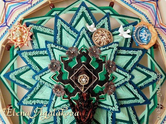 """Моя новая мандала -""""ДРЕВО РОДА"""" - символ процветающей и счастливой жизни, оберег для семьи, хранитель рода. 90 см фото 3"""