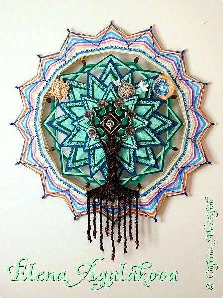 """Моя новая мандала -""""ДРЕВО РОДА"""" - символ процветающей и счастливой жизни, оберег для семьи, хранитель рода. 90 см фото 1"""