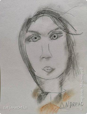 учились рисовать лица,,,кто не смог спарвиться тому выдала журналы,попросила найти лица и оформить причёски в виде орнаментов фото 5