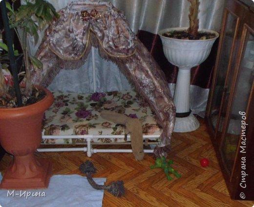 Страна, доброе время суток тебе, твоим жителям и гостям! Делюсь идеей! Любая собака любит иметь своё логово, свою будку ...свое собачье место. У моих шитцулек появился такой шатёр. И они с удовольствием им пользуются. фото 3