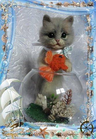 Котейка с подарком фото 2