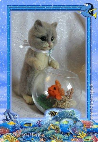 Котейка с подарком фото 1