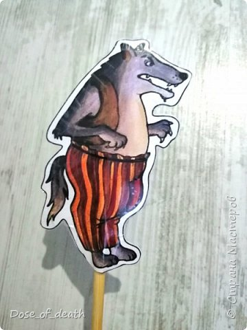 Волк и семеро козлят, все на палочках сидят)...  фото 4