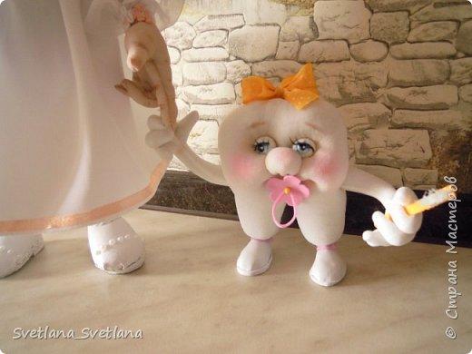 Зубная фея и ее подопечные были  изготовлены для участия в выставке. фото 11