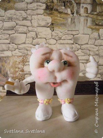 Зубная фея и ее подопечные были  изготовлены для участия в выставке. фото 6