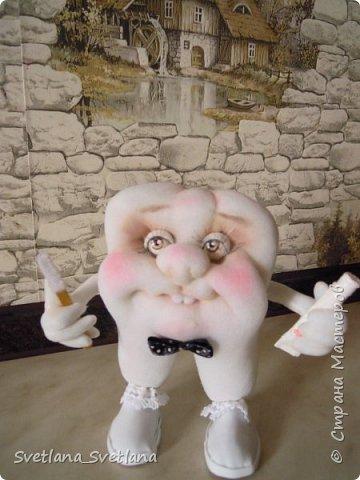 Зубная фея и ее подопечные были  изготовлены для участия в выставке. фото 7