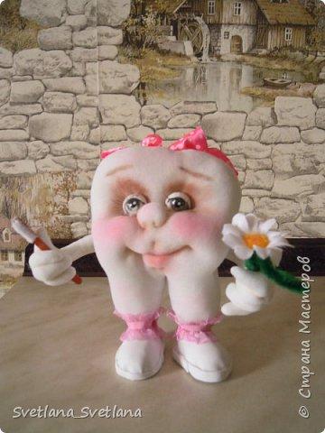 Зубная фея и ее подопечные были  изготовлены для участия в выставке. фото 8