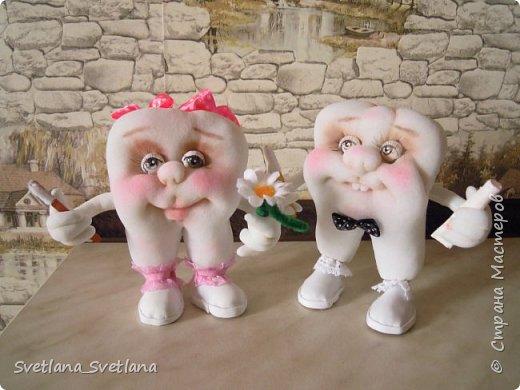Зубная фея и ее подопечные были  изготовлены для участия в выставке. фото 9