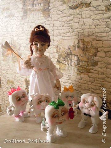 Зубная фея и ее подопечные были  изготовлены для участия в выставке. фото 4