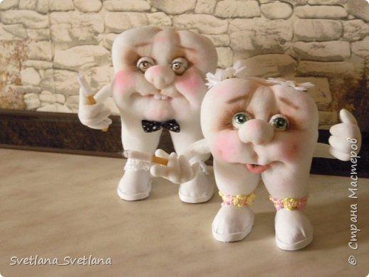Зубная фея и ее подопечные были  изготовлены для участия в выставке. фото 10