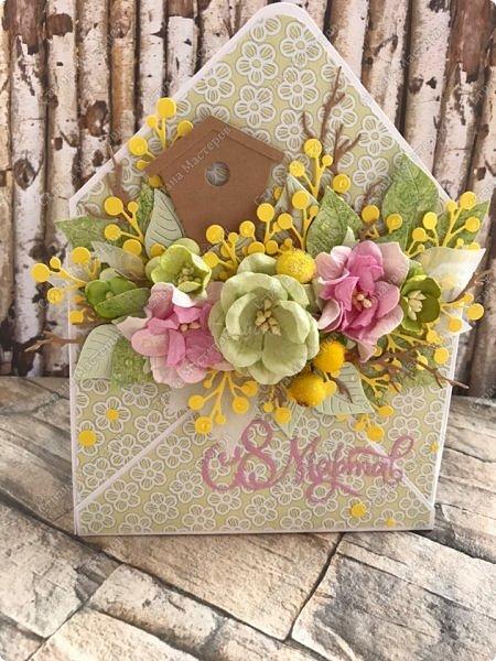 """Мне кажется, что уже каждая мастерица делала """"цветочные конвертики"""", а я в отстающих:)  Продолжаю показывать содержимое заказа. фото 5"""