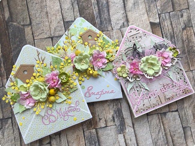 """Мне кажется, что уже каждая мастерица делала """"цветочные конвертики"""", а я в отстающих:)  Продолжаю показывать содержимое заказа. фото 1"""