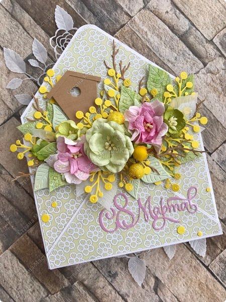 """Мне кажется, что уже каждая мастерица делала """"цветочные конвертики"""", а я в отстающих:)  Продолжаю показывать содержимое заказа. фото 4"""