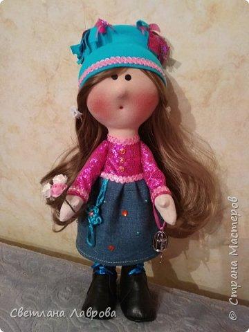 Доброе время суток, жители Страны!!! Разрешите представиться Карина. Куколка сшита в подарок к 8 Марта. фото 1