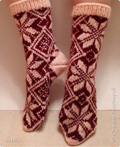 Носочки из шерсти, связаны вручную на пяти спицах. фото 1