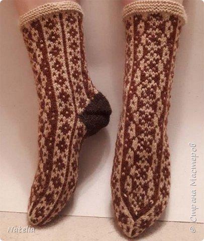 Носочки из шерсти, связаны вручную на пяти спицах. фото 3