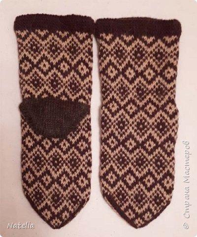 Носочки из шерсти, связаны вручную на пяти спицах. фото 11