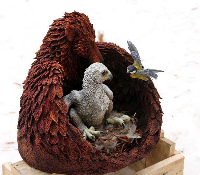 Эта композиция - наш личный домашний артефакт. Я начал скульптуру 8 февраля, и она была полностью готова 27-го. 19 дней ада, который я всё равно не променяю ни на какой рай :)  фото 10