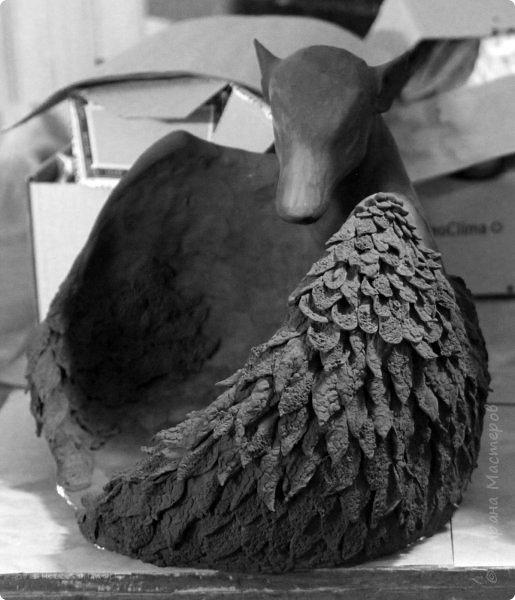Эта композиция - наш личный домашний артефакт. Я начал скульптуру 8 февраля, и она была полностью готова 27-го. 19 дней ада, который я всё равно не променяю ни на какой рай :)  фото 24