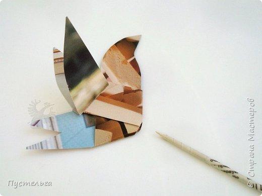 Скоро День птиц! В 2019 году птицей года по решению Союза охраны птиц России стала обыкновенная горлица - маленький изящный голубь.  Сделаем из журналов и газет птичку. фото 14