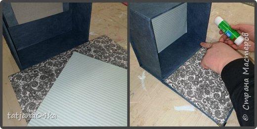 Что понадобилось для работы: 1. Картон (размер 0,3мм) 2. Оберточная бумага  3. Декоративные элементы из металла , чем  украсить коробку. 4. Клей для бумаги (ПВА, Момент Кристалл или любой другой, прочный) 5. Ножницы 6 Линейка,карандаш  Как сделать коробку,,,,Действий много, но награда не заставит себя ждать.  Для начала я вырезала картон необходимого размера  -крышку, днище   - заднюю  стенку  -для стенок понадобилось три детали  фото 5