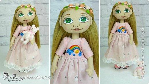 Сделала новую куколку и сняла на видео обзор с ней. Она получилась милой и нежной.