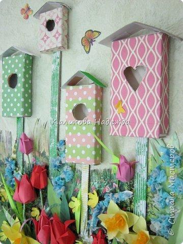 Изготовление мини-скворечников можно приурочить к Международному Дню птиц (ежегодно 1 апреля).А можно их мастерить всю весну - ведь маленький птичий домик - символ прихода весны. Из каких подручных материалов мы делали домики?  фото 2