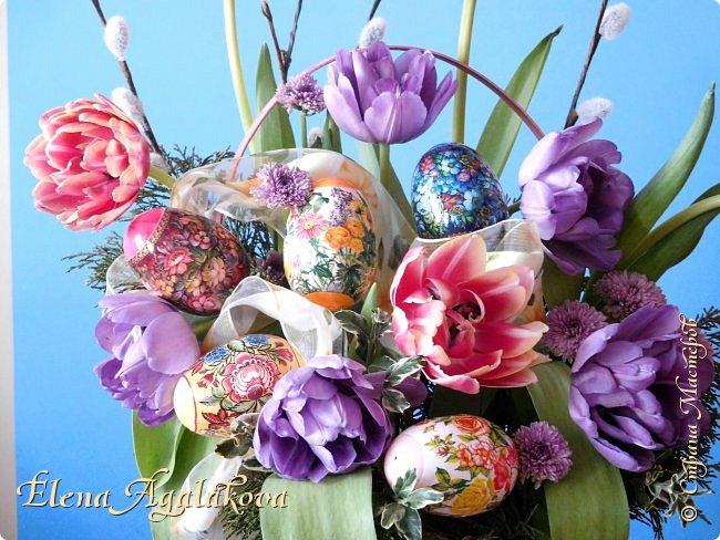 Добрый день! Сегодня я к вам снова с Весенними композициями из цветов. Весна пришла и особенно хочется цветов и красок! Прошлым летом я решила осуществить еще одну свою мечту - научится цветочному дизайну. Очень люблю цветы, травки-муравки, деревья и вообще все растения. Очень увлекательно работать с цветами! Я взяла небольшой курс по цветочному дизайну. Дома делаю оранжировки из того что под рукой, беру цветы которые найду, даже полевые и из своего садика. Конечно сейчас цветов в садике нет, но есть разные веточки, травинки... использую цветы из цветочного магазина где работаю. Делюсь красотой! фото 2