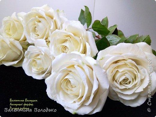 Доброе утро мастера и мастерицы.Впервые лепила белые розы по заказу дорого для меня человека,надеюсь ,что понравиться. фото 2