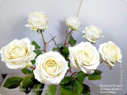 Доброе утро мастера и мастерицы.Впервые лепила белые розы по заказу дорого для меня человека,надеюсь ,что понравиться. фото 4