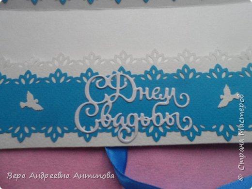 Всем доброго дня! Подруга моей младшей дочки недавно вышла замуж, дочка попросила сделать ей в подарок пару лебедей и конверт-открытку. Вот что у меня получилось.   фото 7