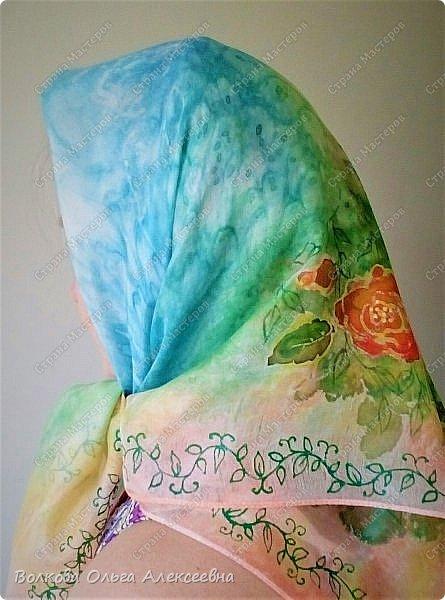 Добрый день. Сегодня решила выложить последние работы. Начну с шерсти. Мужу сваляла новый шарф. Использовала тонкую овечью шерсть тёмно-синего и джинсового цветов, плюс декоративные кручёные нитки для вязания. фото 5