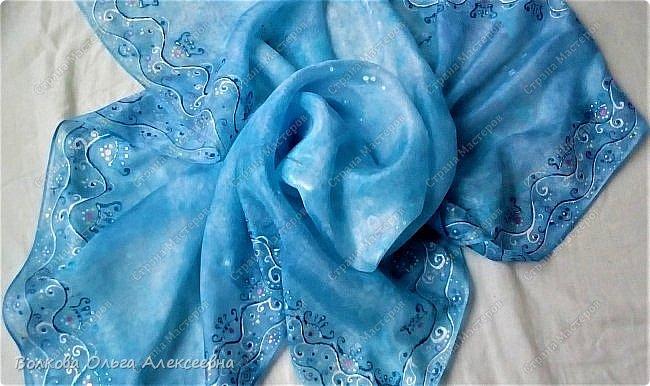 Добрый день. Сегодня решила выложить последние работы. Начну с шерсти. Мужу сваляла новый шарф. Использовала тонкую овечью шерсть тёмно-синего и джинсового цветов, плюс декоративные кручёные нитки для вязания. фото 9