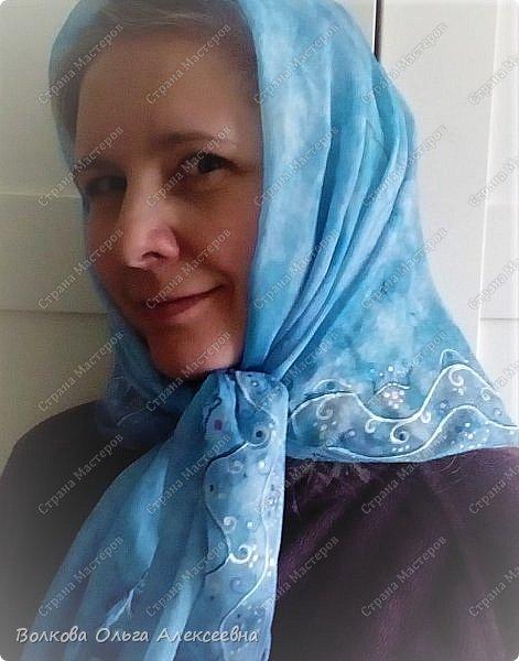 Добрый день. Сегодня решила выложить последние работы. Начну с шерсти. Мужу сваляла новый шарф. Использовала тонкую овечью шерсть тёмно-синего и джинсового цветов, плюс декоративные кручёные нитки для вязания. фото 11