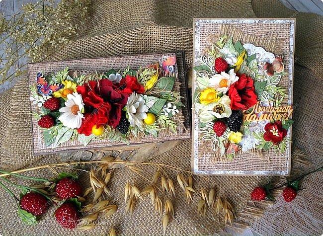 Всем здравствуйте!  Поздравляю с началом прекрасного времени года - лета и хочу показать комплект, состоящий из магнита на холодильник и открытки для любимой мамочки.   фото 1