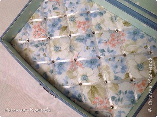 Приветствую всех, кто зашёл ко мне в гости! В этом блоге я покажу ещё две шкатулки в технике Тканевый картонаж. Выполнила их давно. Возможно кто-то их уже видел в ОК и в ВК. Картонаж доставляет мне истинное удовольствие, особенно, если получается задуманное!    фото 4